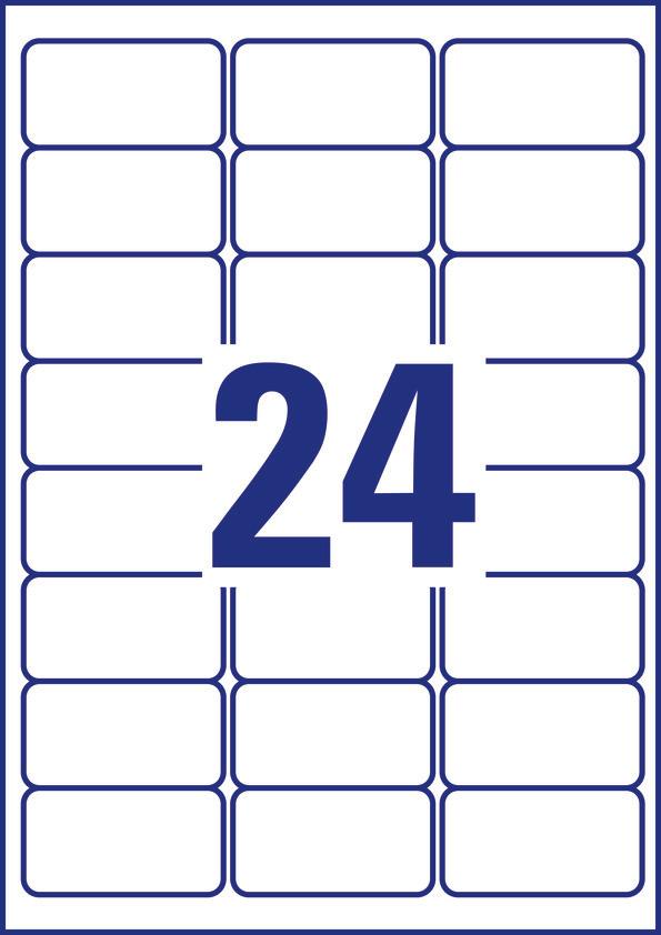 Etykiety ZF 63.5*33.9 6141(20) do oznaczeń TripleBond AVERY ZWECKFORM, etk3480246