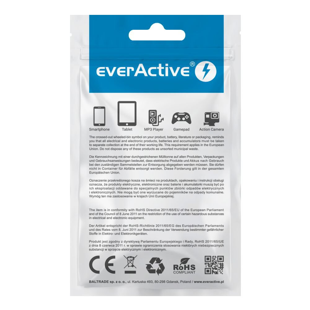 Kabel USB - USB-C/microUSB/Apple Lightning EVERACTIVE 3w1 120cm 2,4A czarny, xa 0382027
