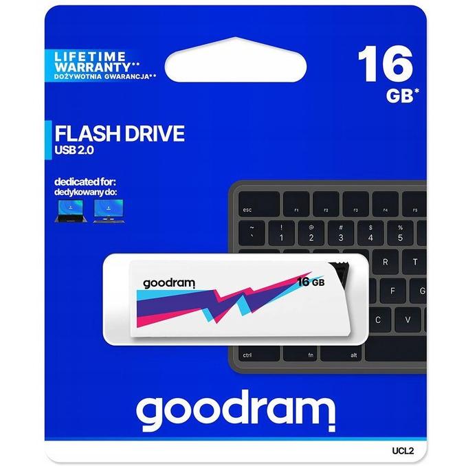 Pamięć USB GOODRAM 16GB UCL2 biały USB, xu 0345544