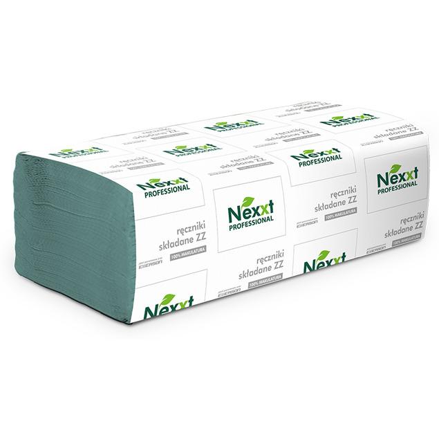 Ręcznik Z-Z `V` 23x25cm zielony NEXXT 4000 składek 1 warstwa 36g/m2 makulatura, re 0056020