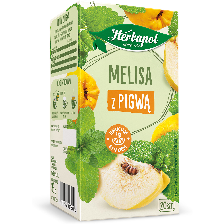Herbata HERBAPOL (20t) ziołowo-owocowa Melisa z Pigwą 35g, gh 0102219