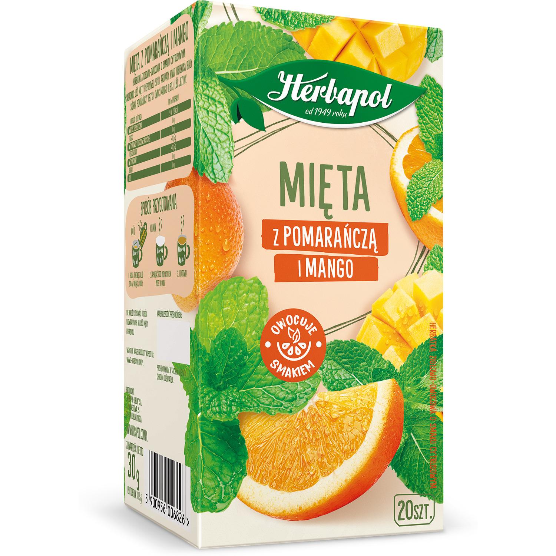 Herbata HERBAPOL (20t) ziołowo-owocowa Mięta z pomarańczą i mango 30g, gh 0104219