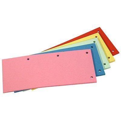 Przekładka kartonowa DATURA/NATUNA 1/3 A4 (100szt) mix kolorów, prk9060237D