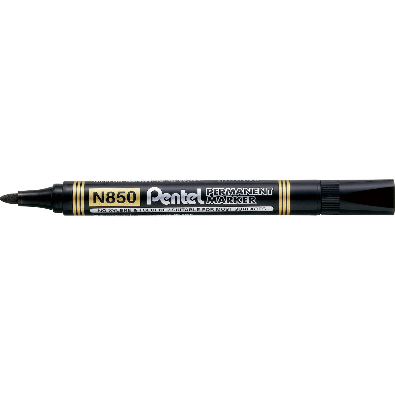Marker permanentny N850 czarny okrągła końcówka PENTEL, mak1710059