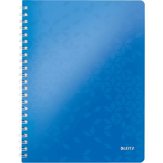 Kołonotatnik LEITZ WOW A4 80k PP kratka niebieski 46380036, kzk0640187