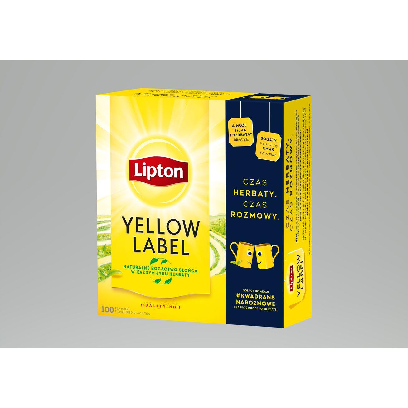 Herbata LIPTON YELLOW LABEL 100 torebek 2g, ghk0160248