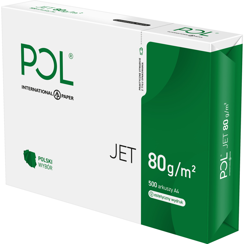Papier xero A4 POLJET 80g (5 ryz) klasa białości A 166, ppk0190276