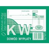 402-5 KW Dowód Wypłaty A6 80 kartek Michalczyk i Prokop