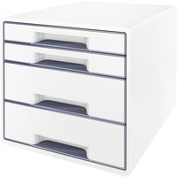 Pojemnik z 4 szufladami LEITZ WOW biało-szary 52132001
