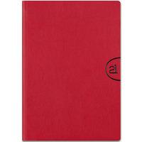 Kalendarz A5 NOTE książkowy (NT3), 18 czerwony mat TELEGRAPH