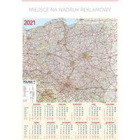 Kalendarz Plakatowy B1, P22 - MAPA 67x98cm TELEGRAPH
