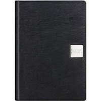 Kalendarz A4 MAX książkowy (L1), 08 czarny indi/rok metalic TELEGRAPH