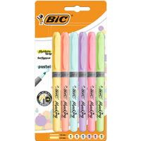 Zakreślacz BIC HIGHLIGHTER GRIP pastelowe kolory opakowanie 6 szt. 992561 BIC