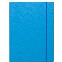 Teczka z gumką prostą DATURA A4 preszpan jasna niebieska 390g