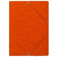 Teczka z gumką rogi NATUNA A4 preszpan pomarańczowa 390g