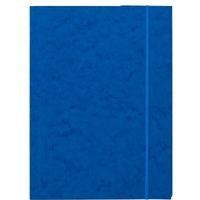 Teczka z gumką prostą NATUNA A4 preszpan niebieska 390g