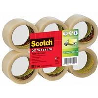Taśma pakowa Scotch 371 Hot-melt przezroczysta 50x66m XX004803829