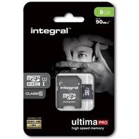 Pamięć MicroSD INTEGRAL 8GB MicroSDHC CL10 INMSDH8G10-90U1 ULTIMA PRO
