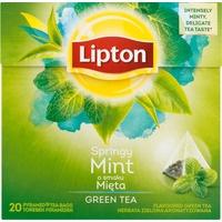 Herbata LIPTON PIRAMID GREEN TEA MIĘTA 20t zielona INTENSE MINT