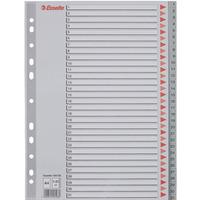 Przekładki plastikowe szare PP A4 1-31 100108 numeryczne ESSELTE