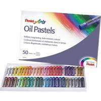 Kredki pastele olejne PENTEL 50kolorów PHN50