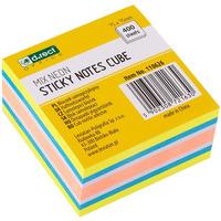 Bloczek samoprzylepny 75x75mm mix neon mango 110626 D.RECT