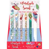 Długopis wymazywalny CHRISTMAS ze skuwką STRIGO PETITE SSC142