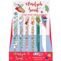 Display długopis wymazywalny CHRISTMAS(36sztuk) ze skuwką STRIGO PETITE SSC142