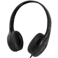 Słuchawki z mikrofonem czarne LIWA