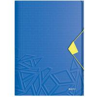 Teczka z gumką Leitz Urban Chic, PP, A4, grzbiet 15 mm, mieści 150 kartek, niebieska 46490032