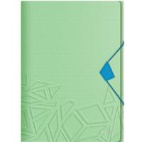 Teczka z gumką Leitz Urban Chic, PP, A4, grzbiet 15 mm, mieści 150 kartek, zielona 46490050