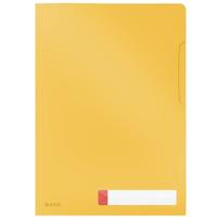 Folder A4 z kieszonką na etykietę, żółty 47080019 LEITZ