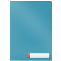 Folder A4 z kieszonką na etykietę, niebieski 47080061 LEITZ