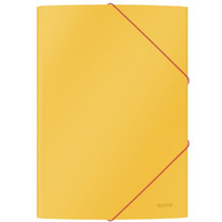 Teczka kartonowa z gumką, A4, żółta 30020019