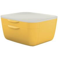 Pojemnik z szufladami Cosy, żółty 53570019