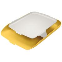 Półka na dokumenty LEITZ Cosy z organizerem żółta 52590019