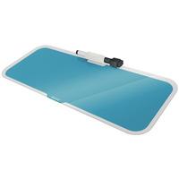 Szklany notatnik na biurko Leitz Cosy poziomy niebieski 52690061