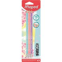 Ołówek z gumką BLACKPEPS pastel HB 3 SZT BLISTER 851719