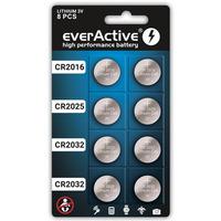 Bateria litowa EVERACTIVE CR2032/CR2025/CR2016 blister mix (8szt)