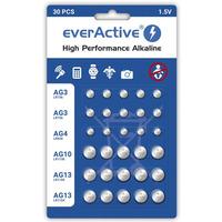 Bateria guzikowa alkaliczna EVERACTIVE 1, 5V AG3/AG4/AG10/AG13 blister mix (30szt)