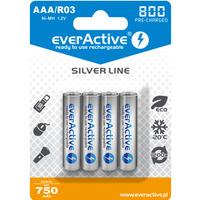 Akumulatorek Ni-MH EVERACTIVE Silver Line AAA/HR03 750mAh blister (4szt)