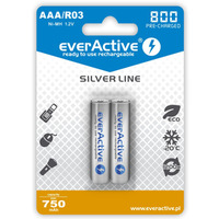 Akumulatorek Ni-MH EVERACTIVE Silver Line AAA/HR03 750mAh blister (2szt)