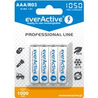 Akumulatorek Ni-MH EVERACTIVE Professional Line AAA/HR03 1000mAh blister (4szt)