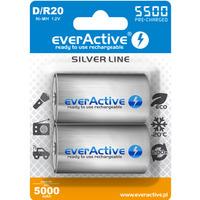 Akumulatorek Ni-MH EVERACTIVE Silver Line D/HR20 5000mAh blister (2szt)