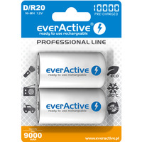 Akumulatorek Ni-MH EVERACTIVE Professional Line D/HR20 9000mAh blister (2szt)