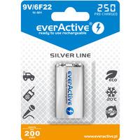 Akumulatorek Ni-MH EVERACTIVE Silver Line 6F22 9V 200mAh blister