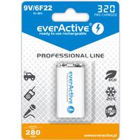 Akumulatorek Ni-MH EVERACTIVE Professional Line 6F22 9V 280mAh blister