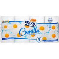 Papier toaletowy rumiankowy (8 rolek) 3 warstwy FOXY CAMILLA