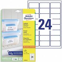 Etykiety na mrożonki A4 63,5*33,9mm białe (25 arkuszy, 600 etykiet) L7970-25 AVERY ZWECKFORM