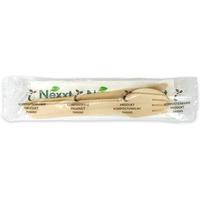 Zestaw drewniany serwetka/widelec/nóż/ łyżka (50sztuk) NEXXT